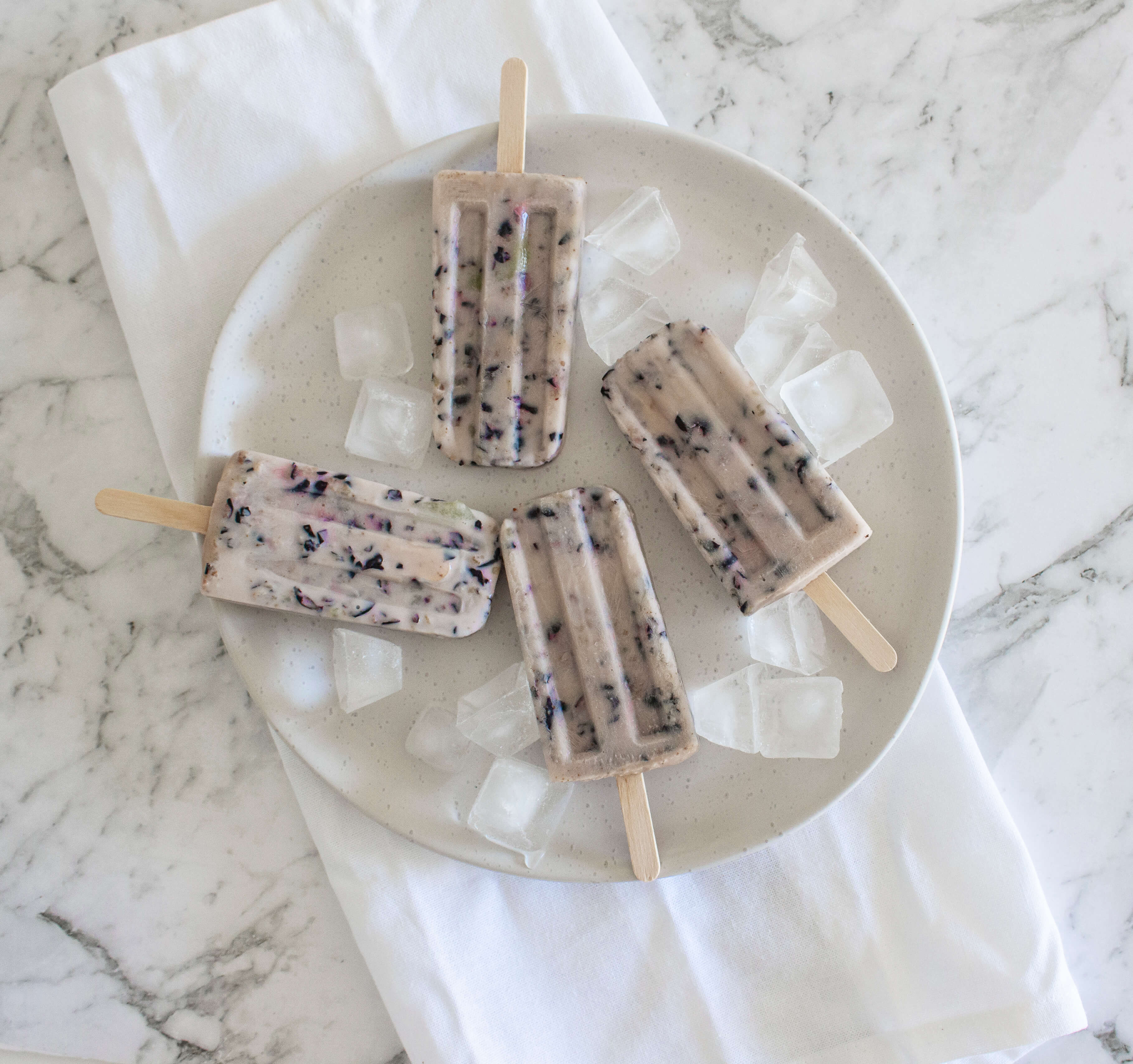 blueberry coconut popsicles